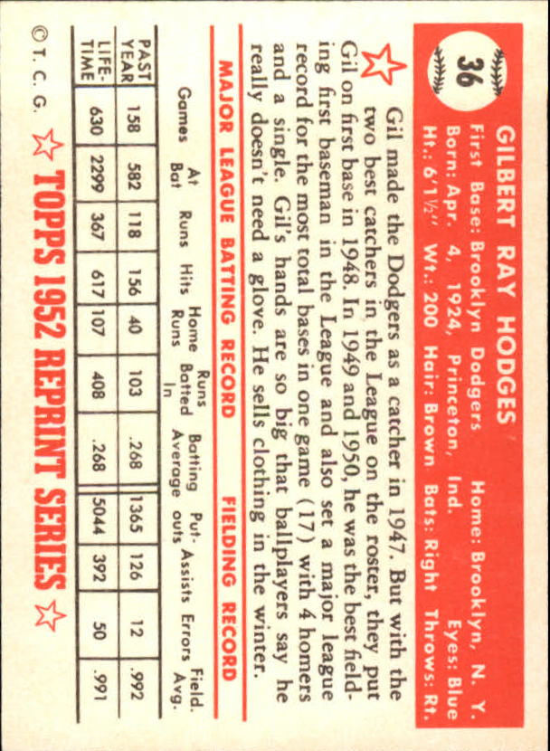 1983-Topps-1952-Reprint-BB-Card-039-s-1-250-You-Pick-Buy-10-cards-FREE-SHIP thumbnail 53