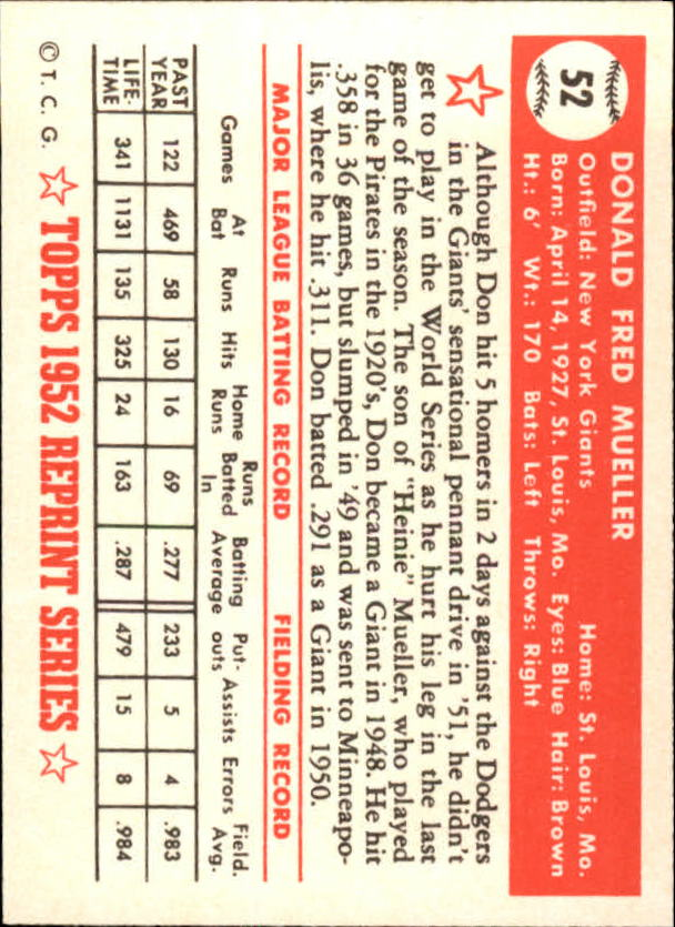 1983-Topps-1952-Reprint-BB-Card-039-s-1-250-You-Pick-Buy-10-cards-FREE-SHIP thumbnail 77