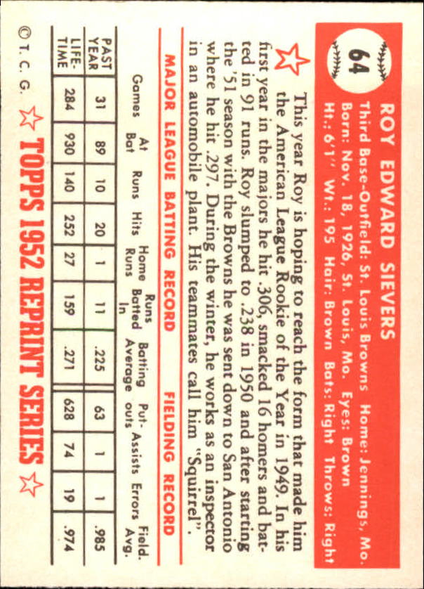 1983-Topps-1952-Reprint-BB-Card-039-s-1-250-You-Pick-Buy-10-cards-FREE-SHIP thumbnail 99