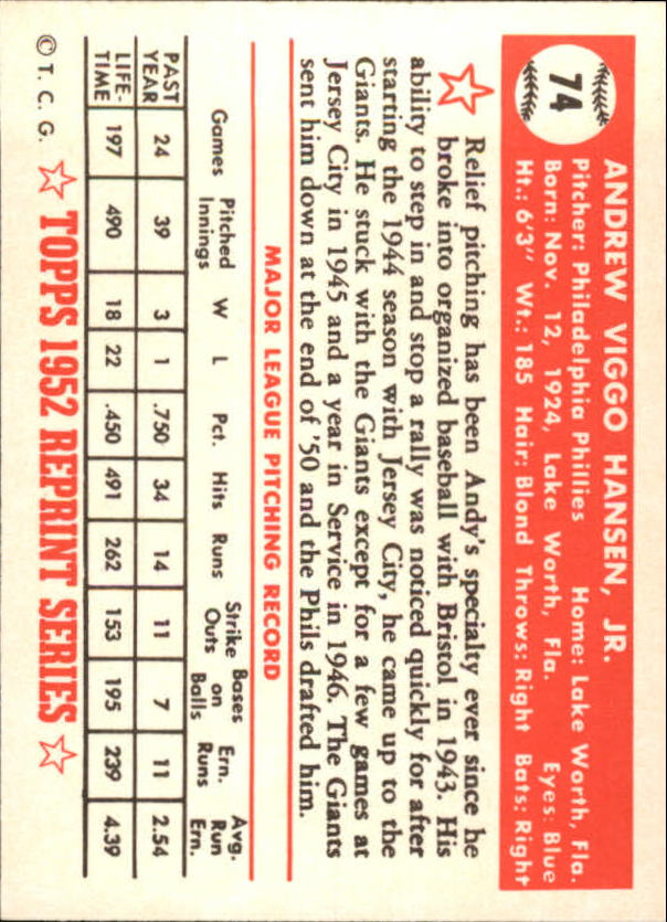 1983-Topps-1952-Reprint-BB-Card-039-s-1-250-You-Pick-Buy-10-cards-FREE-SHIP thumbnail 117