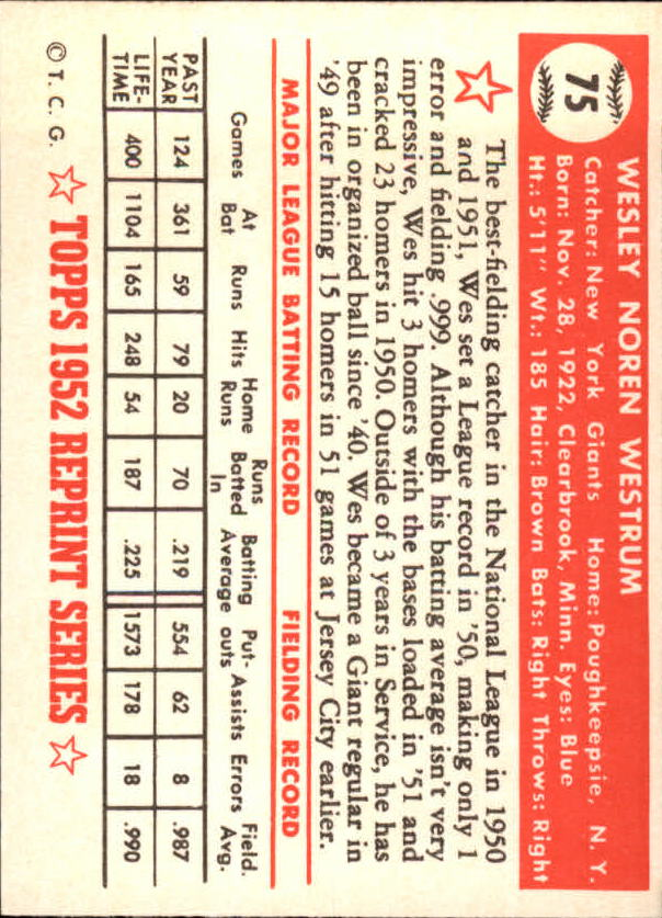 1983-Topps-1952-Reprint-BB-Card-039-s-1-250-You-Pick-Buy-10-cards-FREE-SHIP thumbnail 119