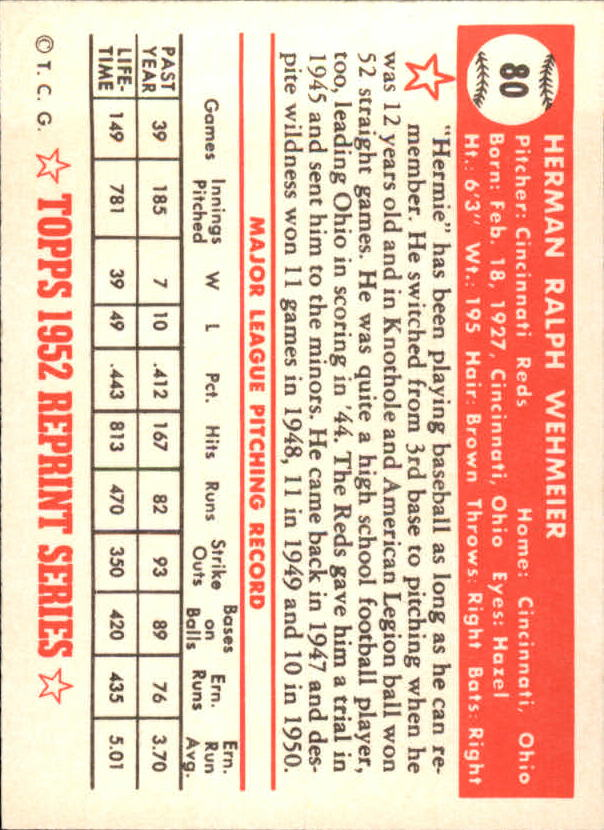 1983-Topps-1952-Reprint-BB-Card-039-s-1-250-You-Pick-Buy-10-cards-FREE-SHIP thumbnail 129