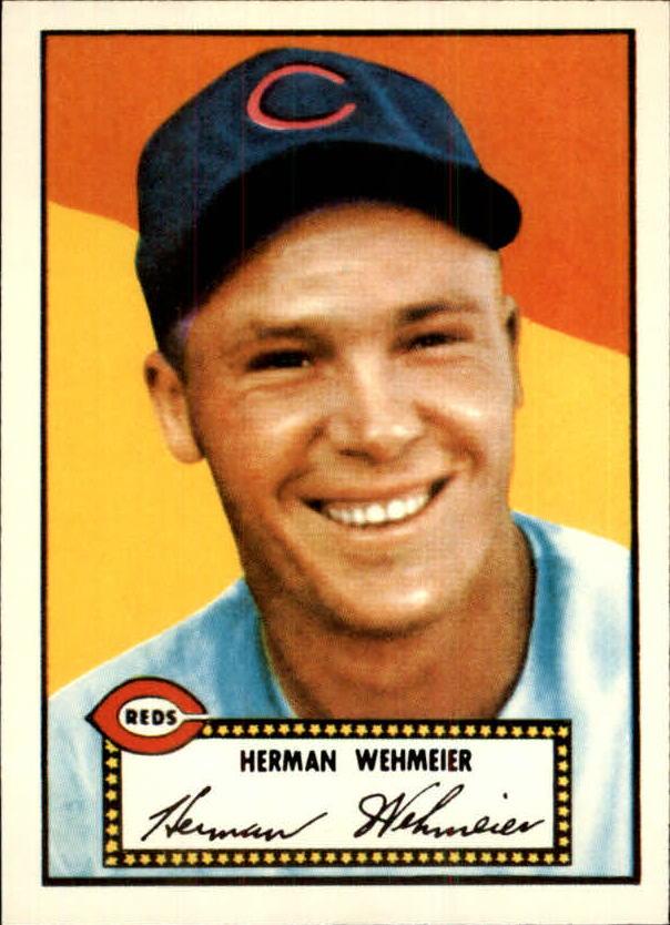 1983 Topps 1952 Reprint #80 Herman Wehmeier