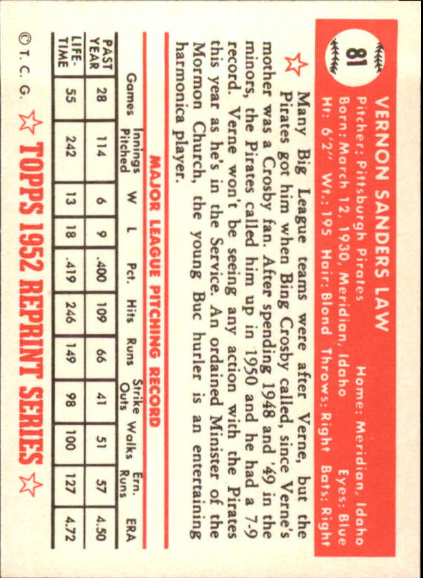1983-Topps-1952-Reprint-BB-Card-039-s-1-250-You-Pick-Buy-10-cards-FREE-SHIP thumbnail 131