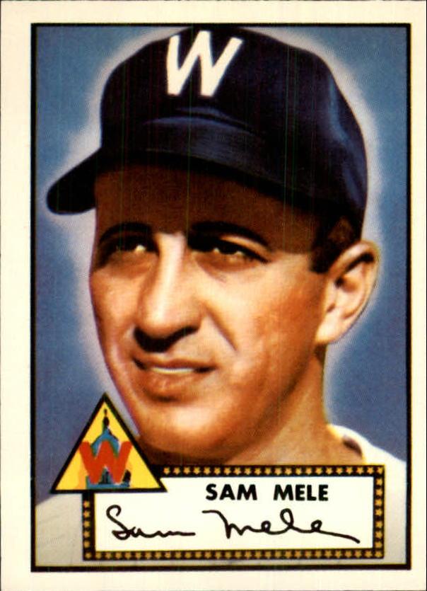 1983 Topps 1952 Reprint #94 Sam Mele