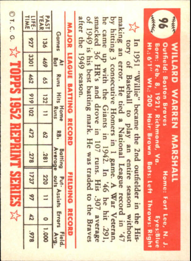 1983-Topps-1952-Reprint-BB-Card-039-s-1-250-You-Pick-Buy-10-cards-FREE-SHIP thumbnail 156