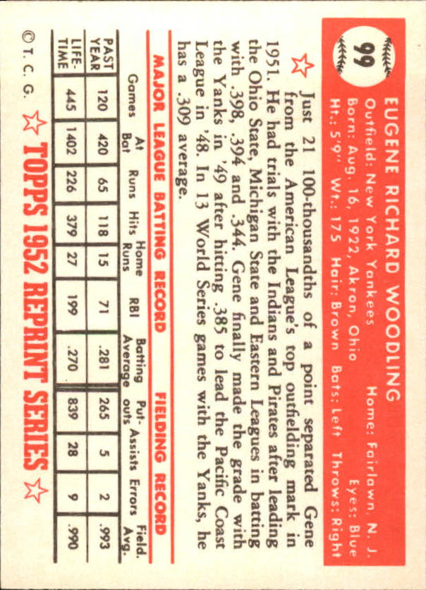 1983-Topps-1952-Reprint-BB-Card-039-s-1-250-You-Pick-Buy-10-cards-FREE-SHIP thumbnail 160