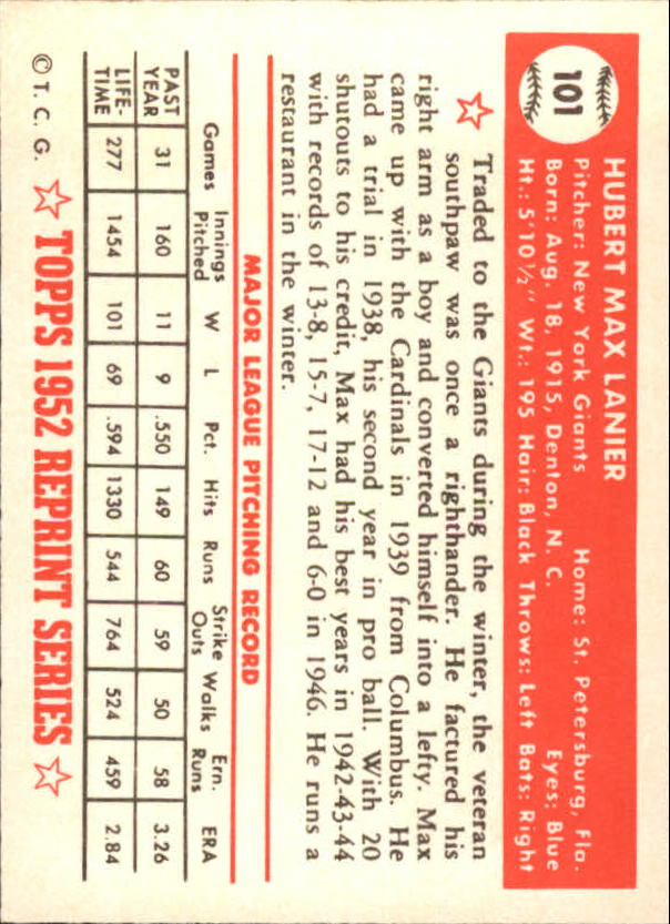 1983-Topps-1952-Reprint-BB-Card-039-s-1-250-You-Pick-Buy-10-cards-FREE-SHIP thumbnail 164