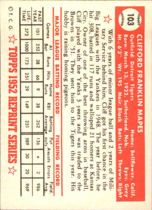 1983-Topps-1952-Reprint-BB-Card-039-s-1-250-You-Pick-Buy-10-cards-FREE-SHIP thumbnail 168