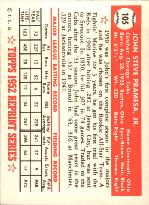 1983-Topps-1952-Reprint-BB-Card-039-s-1-250-You-Pick-Buy-10-cards-FREE-SHIP thumbnail 172