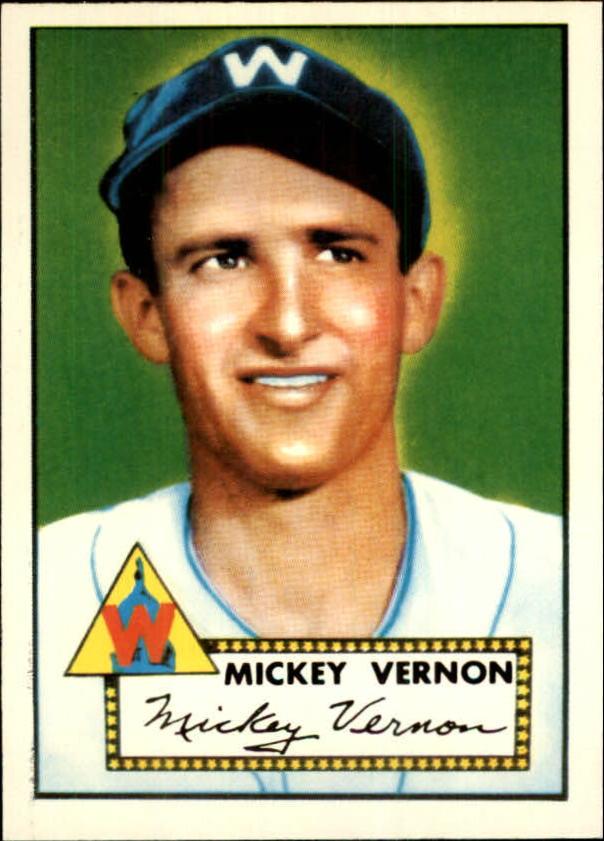 1983 Topps 1952 Reprint #106 Mickey Vernon