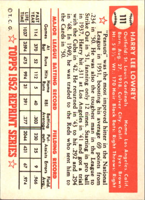 1983-Topps-1952-Reprint-BB-Card-039-s-1-250-You-Pick-Buy-10-cards-FREE-SHIP thumbnail 182