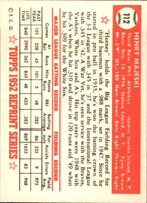 1983-Topps-1952-Reprint-BB-Card-039-s-1-250-You-Pick-Buy-10-cards-FREE-SHIP thumbnail 184