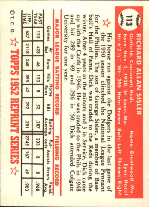 1983-Topps-1952-Reprint-BB-Card-039-s-1-250-You-Pick-Buy-10-cards-FREE-SHIP thumbnail 186
