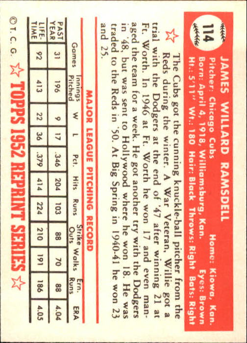 1983-Topps-1952-Reprint-BB-Card-039-s-1-250-You-Pick-Buy-10-cards-FREE-SHIP thumbnail 188