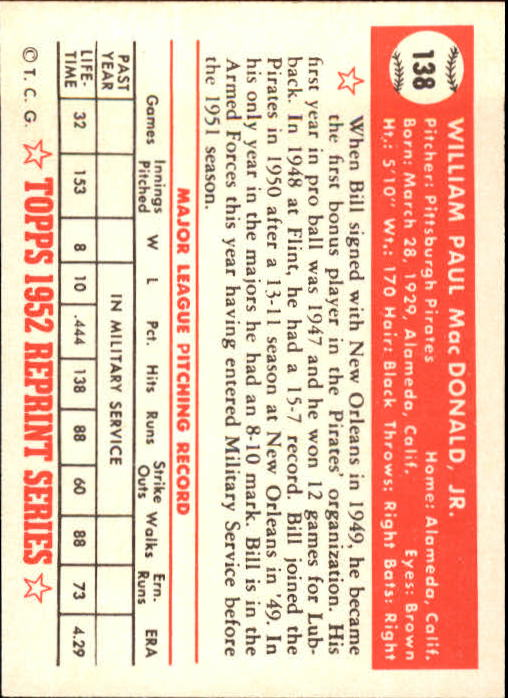 1983-Topps-1952-Reprint-BB-Card-039-s-1-250-You-Pick-Buy-10-cards-FREE-SHIP thumbnail 230