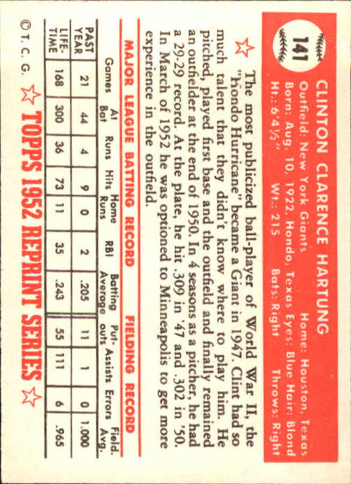1983-Topps-1952-Reprint-BB-Card-039-s-1-250-You-Pick-Buy-10-cards-FREE-SHIP thumbnail 236