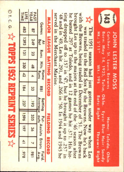 1983-Topps-1952-Reprint-BB-Card-039-s-1-250-You-Pick-Buy-10-cards-FREE-SHIP thumbnail 240