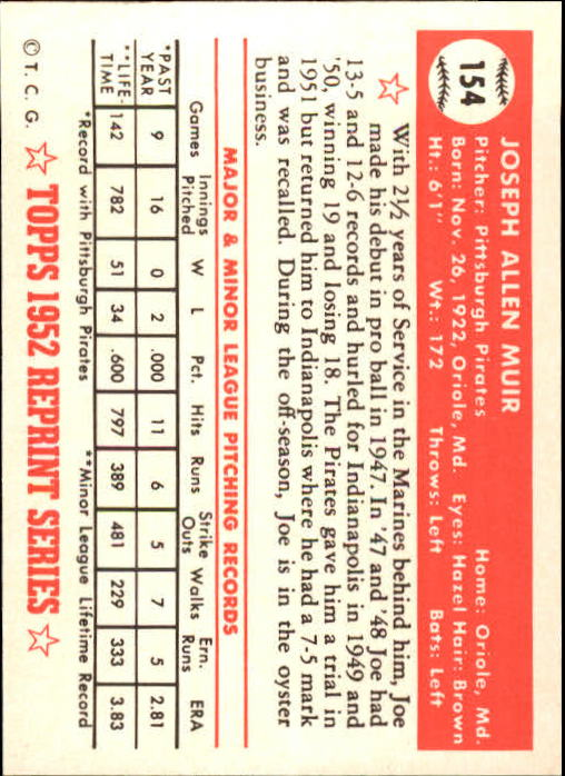 1983-Topps-1952-Reprint-BB-Card-039-s-1-250-You-Pick-Buy-10-cards-FREE-SHIP thumbnail 260