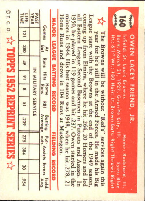 1983-Topps-1952-Reprint-BB-Card-039-s-1-250-You-Pick-Buy-10-cards-FREE-SHIP thumbnail 268