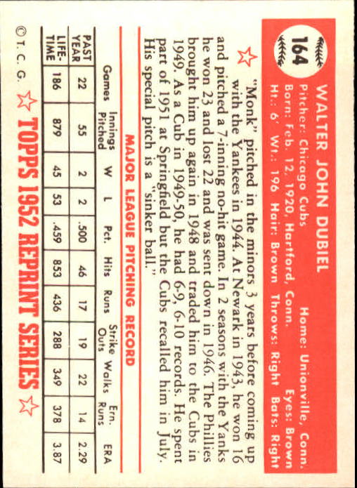 1983-Topps-1952-Reprint-BB-Card-039-s-1-250-You-Pick-Buy-10-cards-FREE-SHIP thumbnail 276