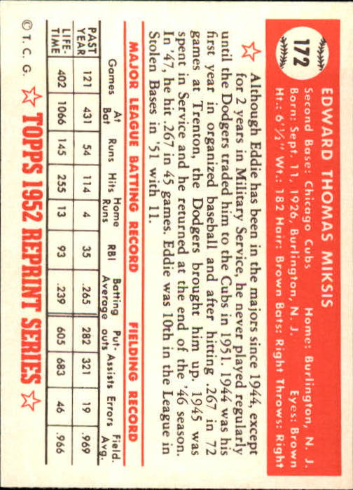 1983-Topps-1952-Reprint-BB-Card-039-s-1-250-You-Pick-Buy-10-cards-FREE-SHIP thumbnail 290