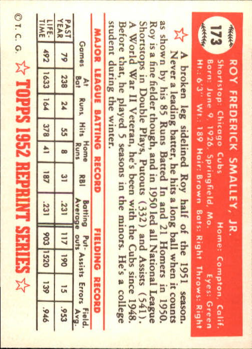 1983-Topps-1952-Reprint-BB-Card-039-s-1-250-You-Pick-Buy-10-cards-FREE-SHIP thumbnail 292