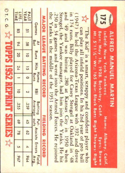 1983-Topps-1952-Reprint-BB-Card-039-s-1-250-You-Pick-Buy-10-cards-FREE-SHIP thumbnail 296