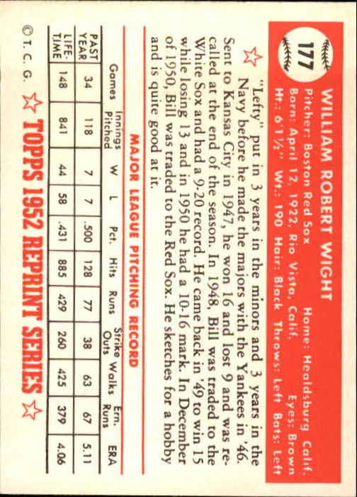 1983-Topps-1952-Reprint-BB-Card-039-s-1-250-You-Pick-Buy-10-cards-FREE-SHIP thumbnail 300