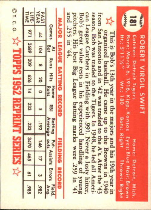 1983-Topps-1952-Reprint-BB-Card-039-s-1-250-You-Pick-Buy-10-cards-FREE-SHIP thumbnail 306