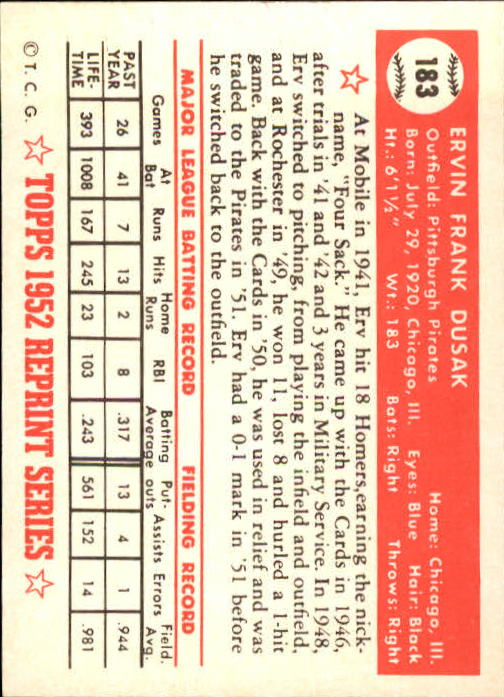 1983-Topps-1952-Reprint-BB-Card-039-s-1-250-You-Pick-Buy-10-cards-FREE-SHIP thumbnail 310