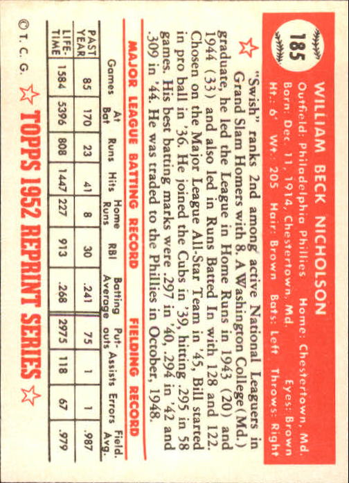 1983-Topps-1952-Reprint-BB-Card-039-s-1-250-You-Pick-Buy-10-cards-FREE-SHIP thumbnail 314