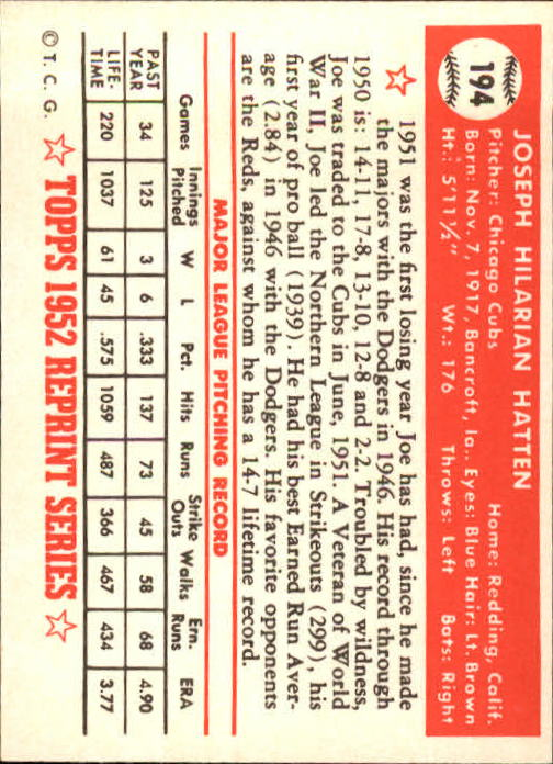 1983-Topps-1952-Reprint-BB-Card-039-s-1-250-You-Pick-Buy-10-cards-FREE-SHIP thumbnail 330