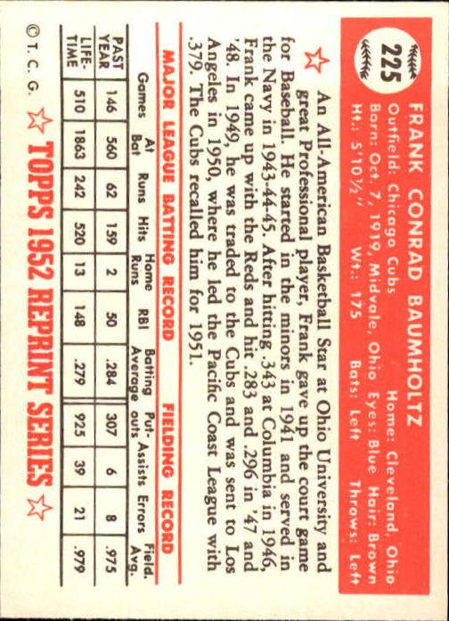 1983-Topps-1952-Reprint-BB-Card-039-s-1-250-You-Pick-Buy-10-cards-FREE-SHIP thumbnail 374