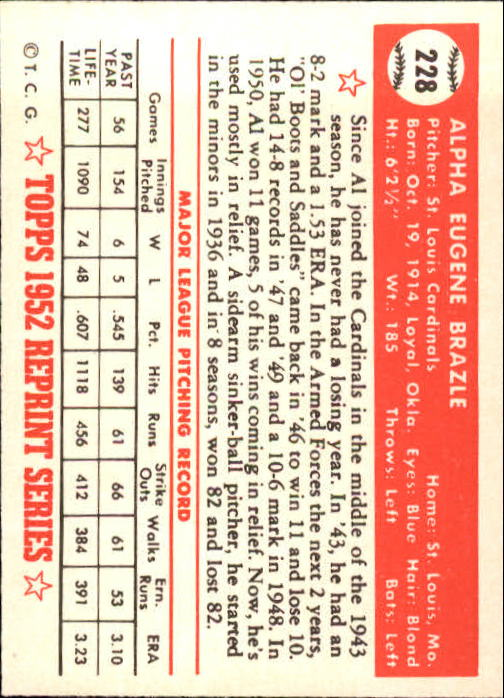 1983-Topps-1952-Reprint-BB-Card-039-s-1-250-You-Pick-Buy-10-cards-FREE-SHIP thumbnail 380