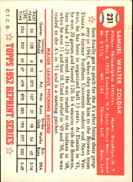 1983-Topps-1952-Reprint-BB-Card-039-s-1-250-You-Pick-Buy-10-cards-FREE-SHIP thumbnail 386
