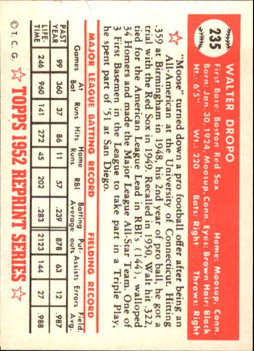 1983-Topps-1952-Reprint-BB-Card-039-s-1-250-You-Pick-Buy-10-cards-FREE-SHIP thumbnail 394