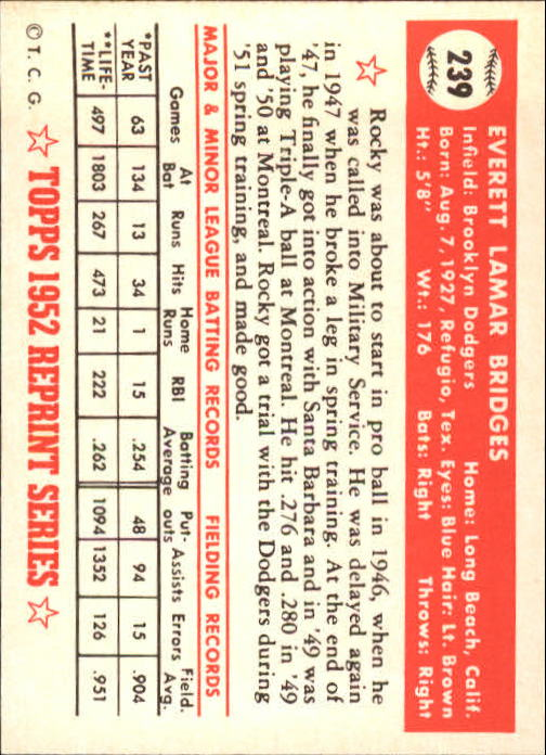 1983-Topps-1952-Reprint-BB-Card-039-s-1-250-You-Pick-Buy-10-cards-FREE-SHIP thumbnail 400