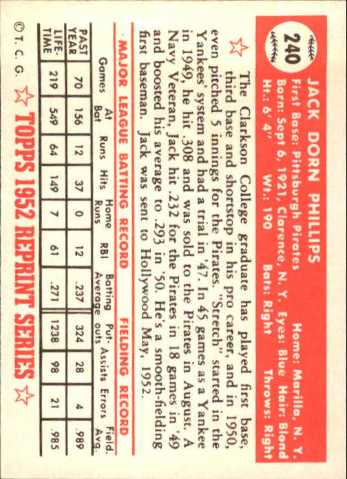 1983-Topps-1952-Reprint-BB-Card-039-s-1-250-You-Pick-Buy-10-cards-FREE-SHIP thumbnail 402