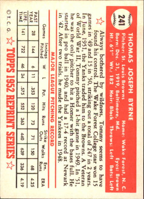 1983-Topps-1952-Reprint-BB-Card-039-s-1-250-You-Pick-Buy-10-cards-FREE-SHIP thumbnail 404