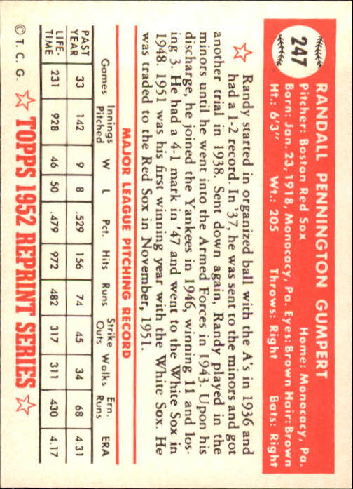 1983-Topps-1952-Reprint-BB-Card-039-s-1-250-You-Pick-Buy-10-cards-FREE-SHIP thumbnail 414