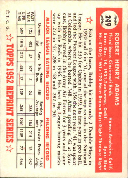 1983-Topps-1952-Reprint-BB-Card-039-s-1-250-You-Pick-Buy-10-cards-FREE-SHIP thumbnail 418