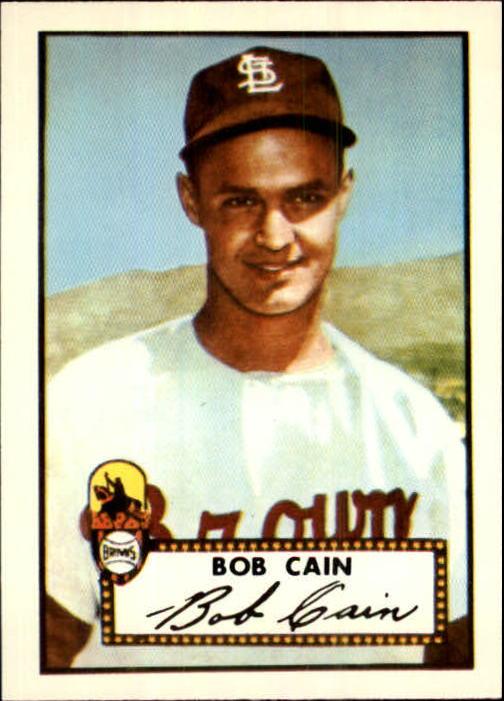 1983 Topps 1952 Reprint #349 Bob Cain