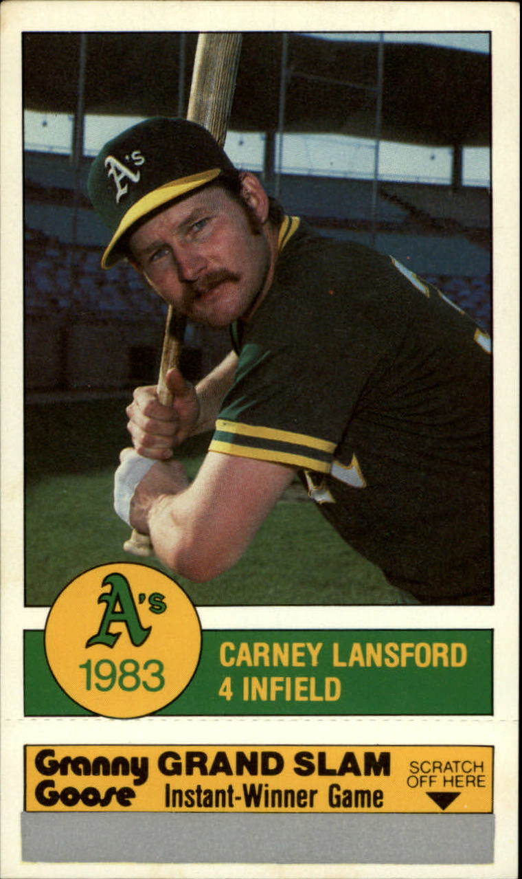 1983 A's Granny Goose #4 Carney Lansford