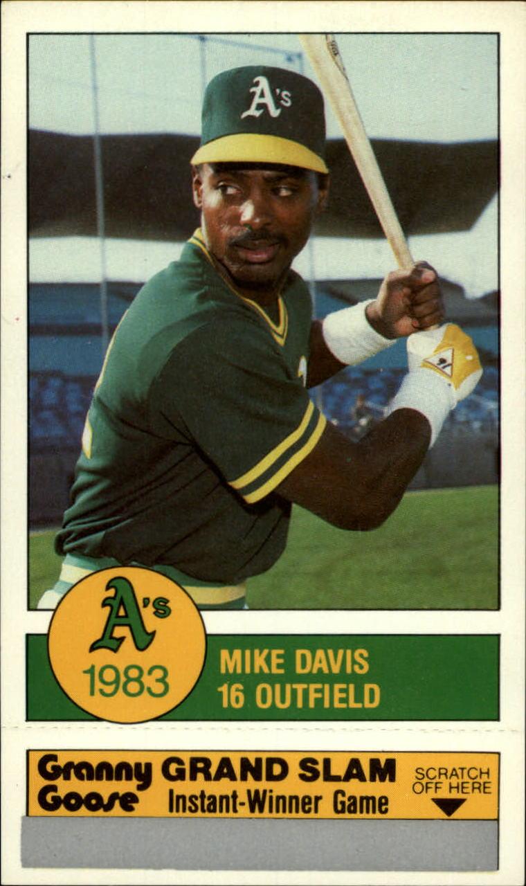 1983 A's Granny Goose #16 Mike Davis