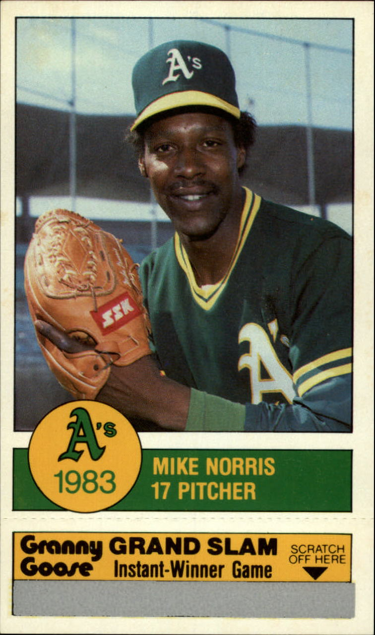 1983 A's Granny Goose #17 Mike Norris