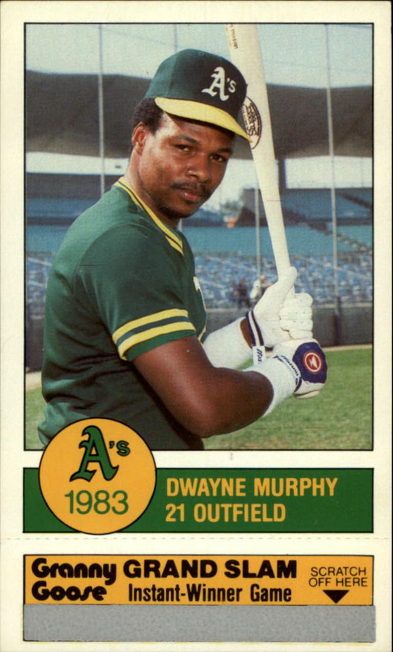 1983 A's Granny Goose #21 Dwayne Murphy