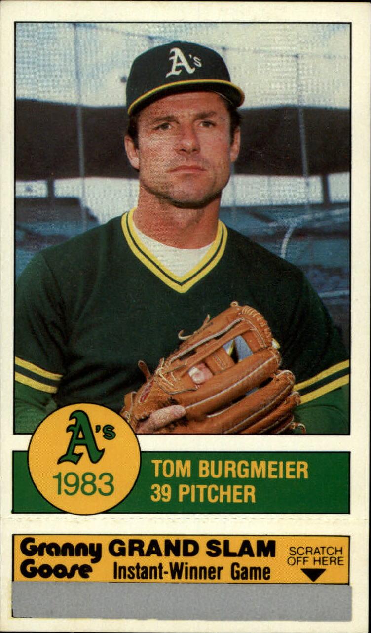 1983 A's Granny Goose #39 Tom Burgmeier