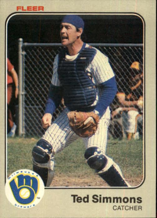 1983 Fleer #45 Ted Simmons