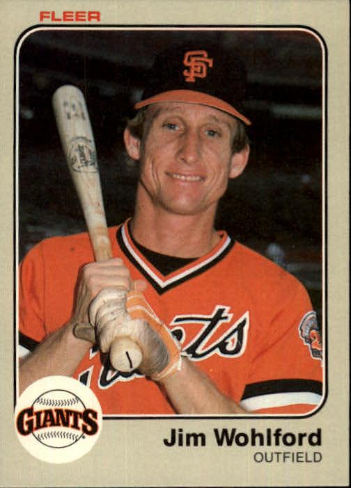 1983 Fleer #276 Jim Wohlford
